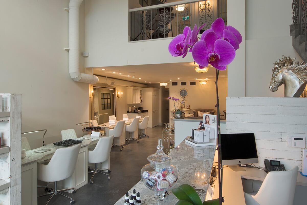 Boutique Esthetics Lounge Kelowna front counter